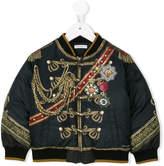Dolce & Gabbana printed padded bomber jacket