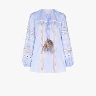 Silvia Tcherassi Monty embroidered tunic top