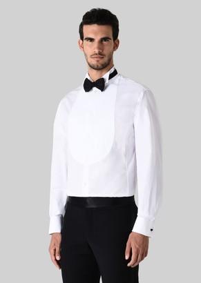 Giorgio Armani Tuxedo Shirt In Cotton Poplin