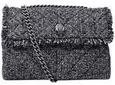 Kurt Geiger Kensington Tweed Large Cross Body Bag, Grey