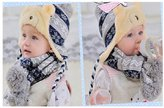 FuShi Kids Knitted Hat Scarf Set for Baby Boys Girls 8 Months to 3 Years