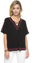 Juicy Couture Matte Jersey Embellished Top