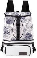 adidas by Stella McCartney Run Convertible Printed Backpack, White/Black/Blue