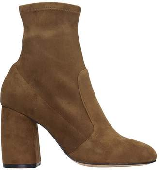 Bibi Lou High Heels Ankle Boots In Leather Color Suede