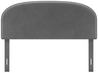 Latitude Run Chrishad Queen Upholstered Panel Headboard Color: Dark Gray