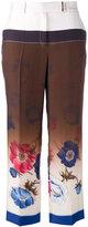 Salvatore Ferragamo printed trousers - women - Silk - 44