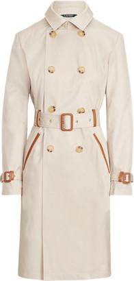 Ralph Lauren Faux Leather-Trim Trench Coat
