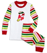 Sara's Prints Girls' Candy Cane Pajama Set - Little Kid, Big Kid