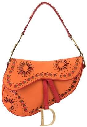 Christian Dior Pre-Owned 2000s cut-off details Saddle shoulder bag