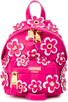 Moschino flower power backpack - women - Leather - One Size