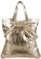 RED Valentino Metallic Bow-Embellished Tote