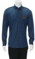 Dolce & Gabbana Logo-Embroidered Chambray Shirt