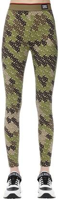 Burberry Monogram Stretch Jersey Leggings