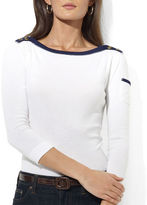 Lauren Ralph Lauren Mickie Three Quarter Sleeve Boatneck
