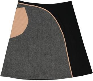 Marni Grey Wool Skirt for Women