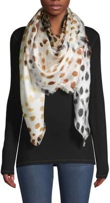 Franco Ferrari Patchwork Animal-Print Silk Scarf
