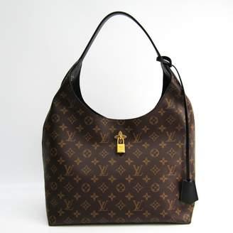 Louis Vuitton Flower Tote Brown Cloth Handbags