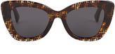 Fendi Thick Frame Logo Sunglasses