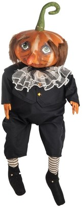 C&F Home Gersham Pumpkin Head Joe Spencer Gathered Traditions Art Doll
