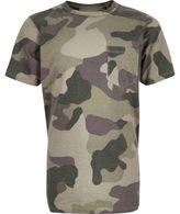 River Island Boys khaki camo T-shirt