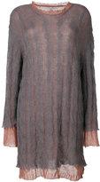 Maison Margiela double layer knit dress
