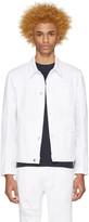 Helmut Lang White Distressed Denim Jacket