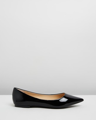 Atmos & Here Atmos&Here - Women's Black Ballet Flats - Kate Leather Flats - Size 5 at The Iconic