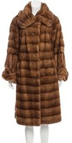 Giuliana Teso Paneled Mink Coat