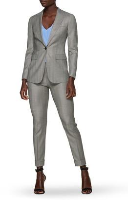 SUISTUDIO Robin Wool Blend Herringbone Trousers