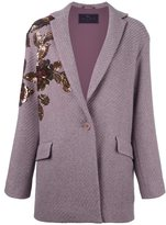 Etro sequined ribbed cardi-coat - women - Silk/Nylon/Polyester/Wool - 40