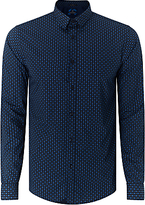Scotch & Soda Long Sleeve Poplin Geo Print Slim Shirt, Combo E