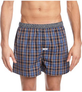 Mitch Dowd Contrast Check Yarn Dyed Woven Boxer