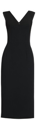 Dolce & Gabbana Stretch Crepe V-Neck Sheath Dress