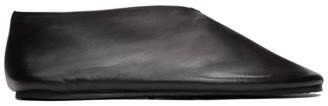 Jil Sander Black Slipper Loafers