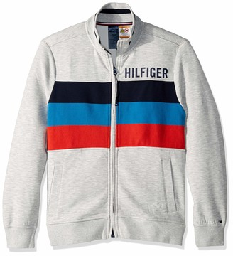 Tommy Hilfiger Men's Adaptive Sweatshirt with Magnetic Zipper and Mock Neck