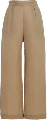 Anemos The Keaton Linen-Blend Wide-Leg Pants