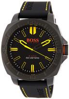 HUGO BOSS Men&s Sao Paulo Silicone Strap Watch
