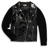 Design History Girl's Pleather Jacket