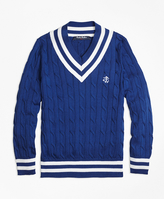 Brooks Brothers Supima® Cotton Cable Sweater