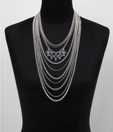 Express Multi Row Chain And Charm Necklace