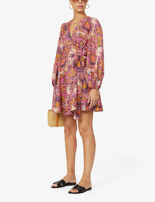 Zimmermann Fiesta floral-print linen mini dress
