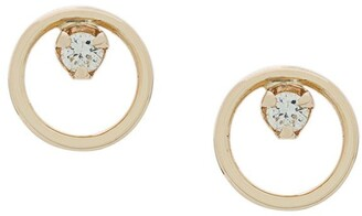 Zoë Chicco 14kt Yellow Gold Circle Diamond Studs