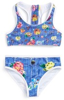 Betsey Johnson Girl's Floral Print Two-Piece Swimsuit