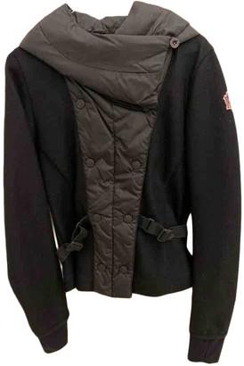 Moncler Grenoble Black Wool Coat for Women