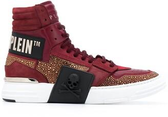 Philipp Plein Crystal hi-top sneakers