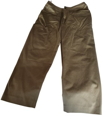 Vanessa Seward Khaki Cotton Trousers for Women