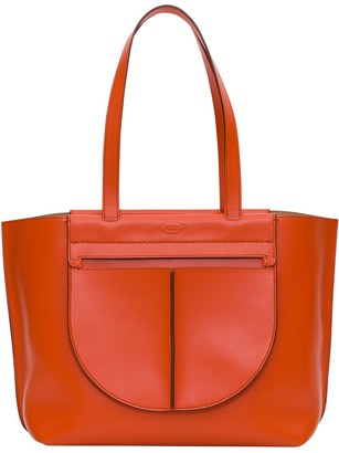 Tod's New Selleria Shopping In Pebble Leather With Double Handle