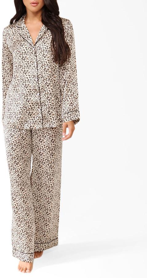 Forever 21 Leopard PJ Set