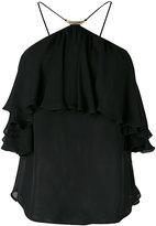 Plein Sud Jeans halter ruffle top - women - Silk - 36