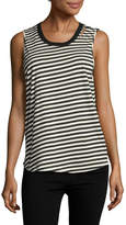 Monrow Women's Slash Stripe Muscle Tank